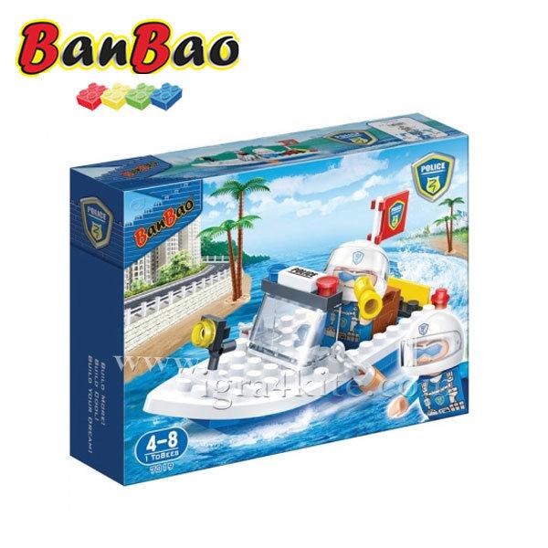BanBao - Строител 4+ Полицейска лодка 7019