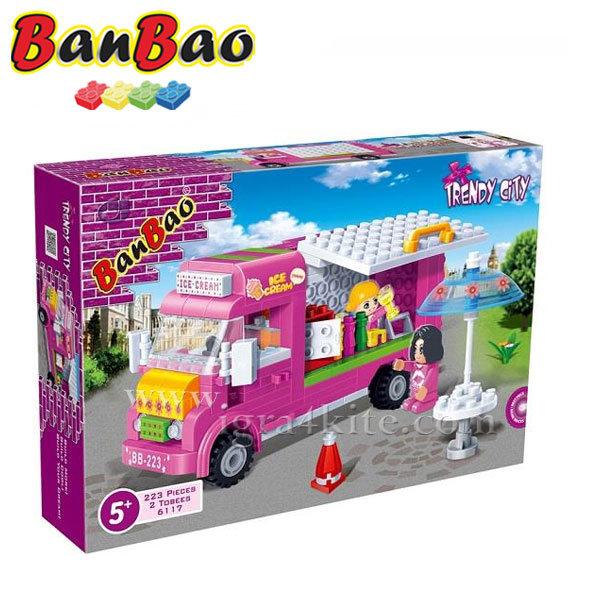 BanBao - Строител 5+ Кола за сладолед 6117