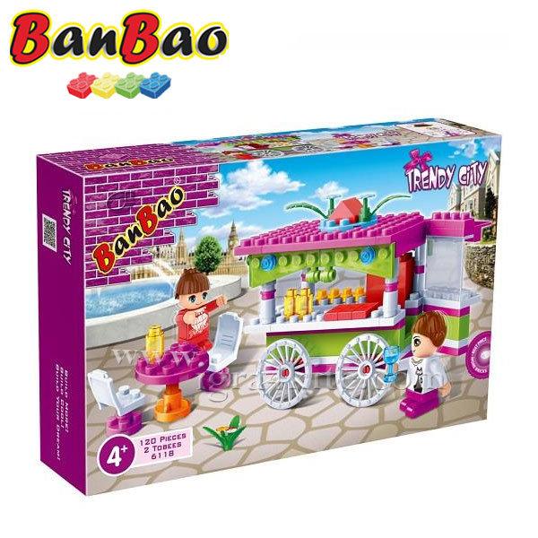 BanBao - Строител 4+ Количка с лакомства 6118