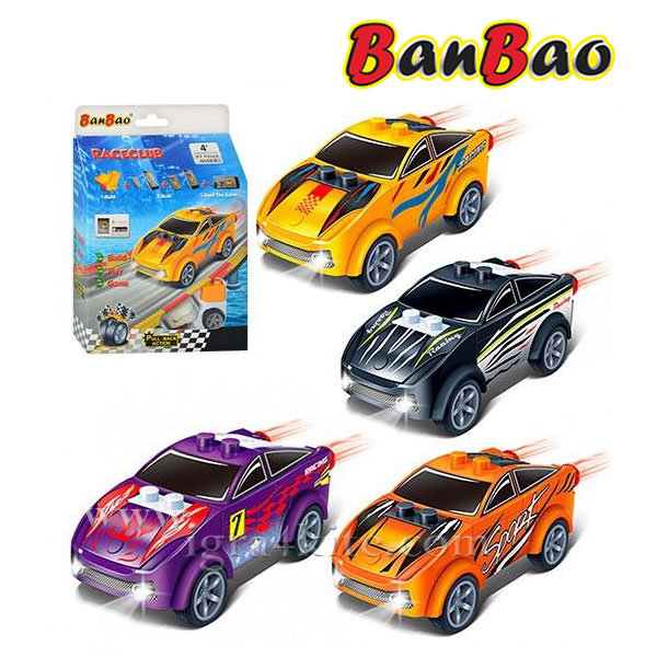 BanBao - Строител 4+ Мини количка Pull and Back 8626