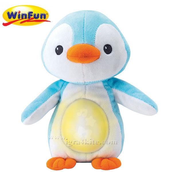 WinFun - Плюшен светещ музикален пингвин син 0160