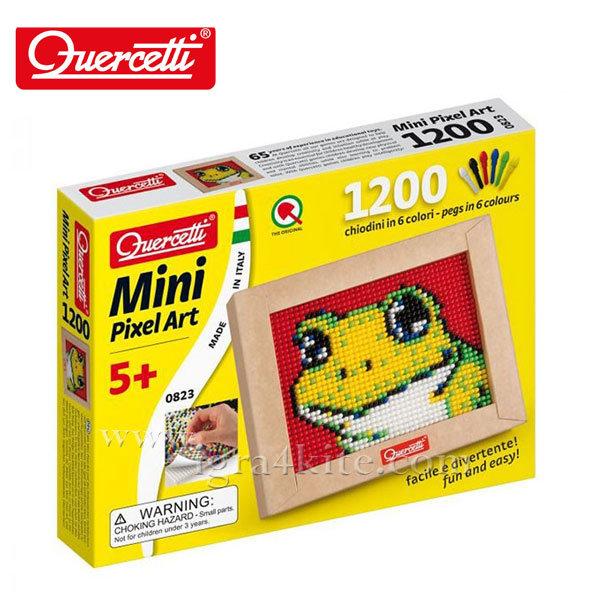 Quercetti - Мозайка 1200ч Жаба Mini Pixel Art 823