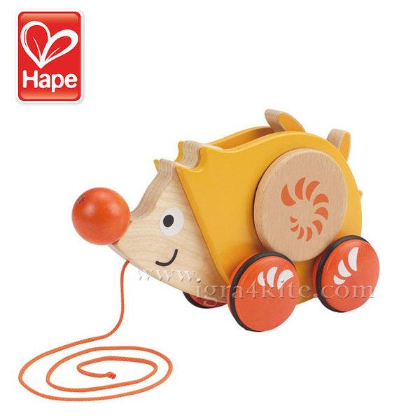 Hape - Дървен Таралеж за дърпане H0350