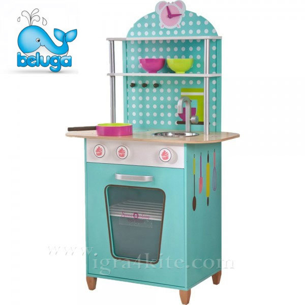 Beluga - Детска дървена кухня тюркоаз 68000