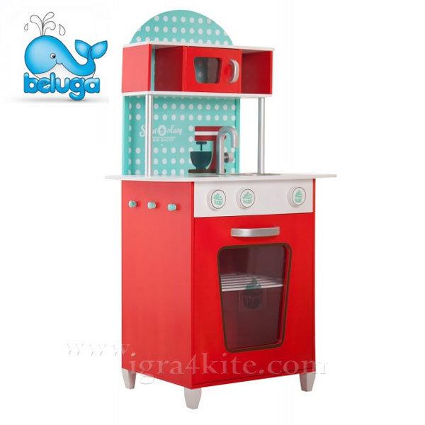 Beluga - Детска дървена кухня червена 68001