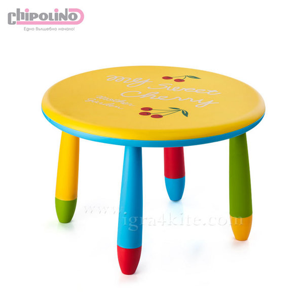 Chipolino - Детска масичка жълта черешка