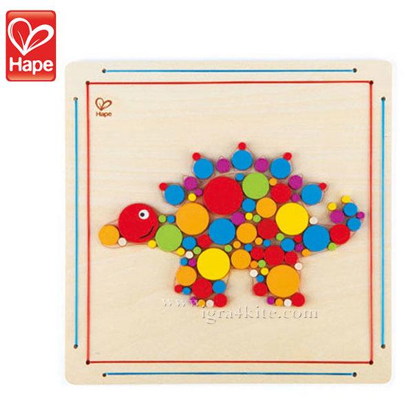 Hape - Дървена мозайка Стегозавър H5136