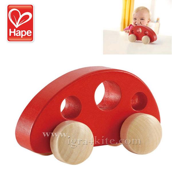 Hape - Детска дървена играчка мини ван H0052