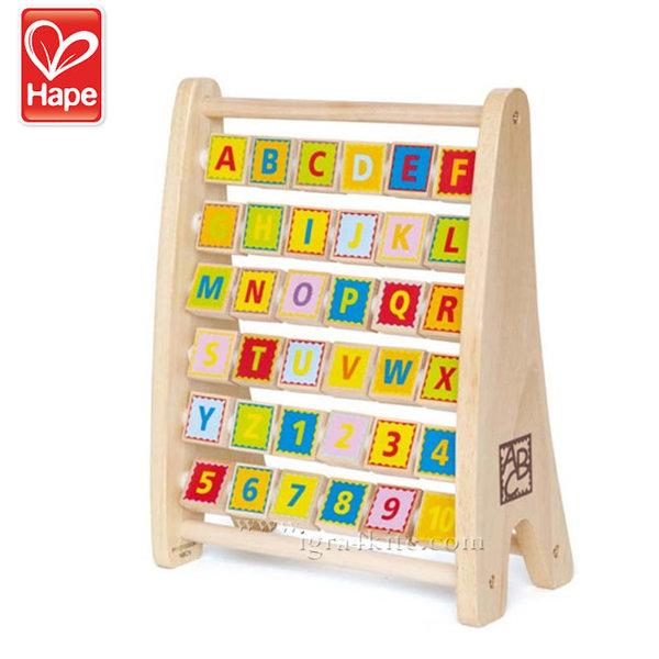 Hape - Детско двустранно сметало с букви H1002