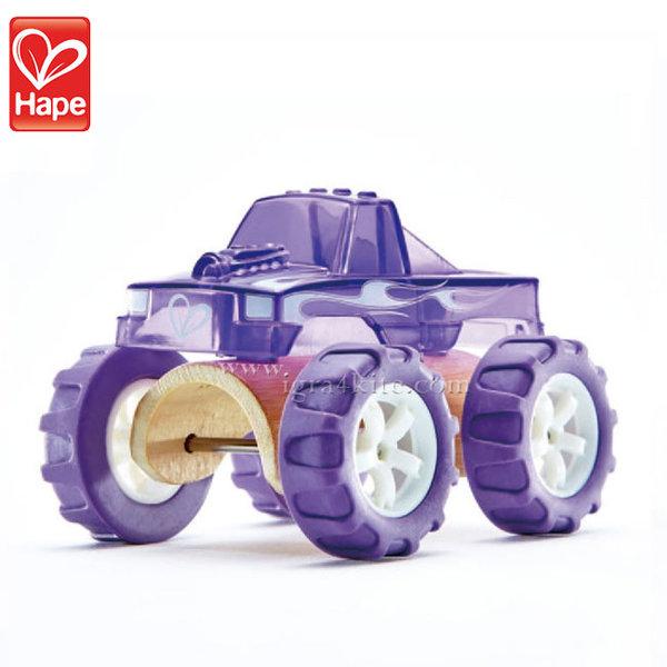Hape - Детска количка от бамбук Чудовищен камион H5507