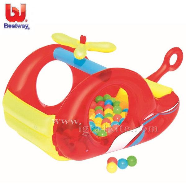 Bestway - Детски надуваем хеликоптер с 50 топки 52183