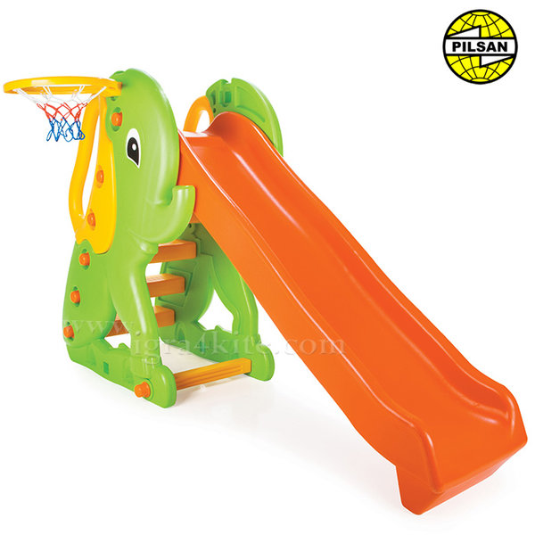 Pilsan - Детска пързалка с баскетболен кош слонче 06160