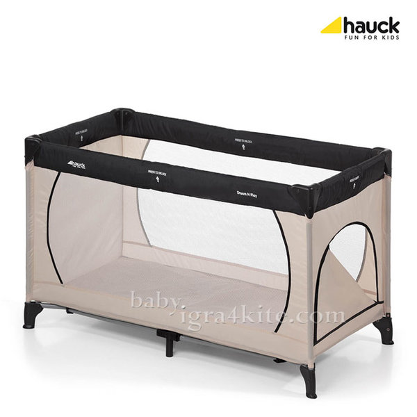 Hauck - Бебешка кошара Dream'n Play Plus Beige/Grey 603673