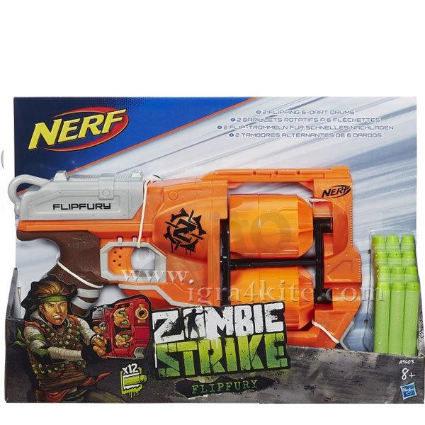 Hasbro Nerf - Nerf Zombie Strike Бластер Flipfury a9603