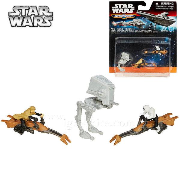 Hasbro Star Wars - Комплект 3 бойни кораба от Междузвездни войни Endor Forest Battle b3500