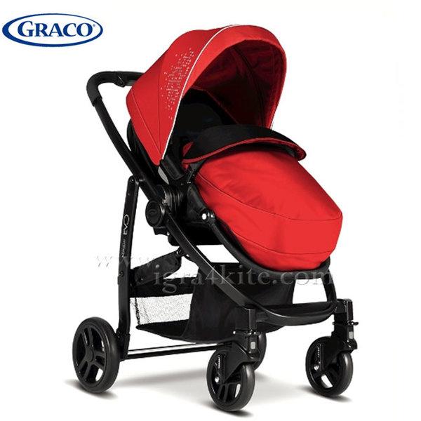 Graco - Бебешка комбинирана количка EVO TS Chilli Red G7AG99CRDE
