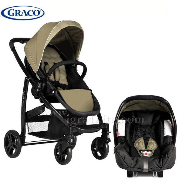 Graco - Бебешка комбинирана количка EVO TS Sand G7AG99SSDE