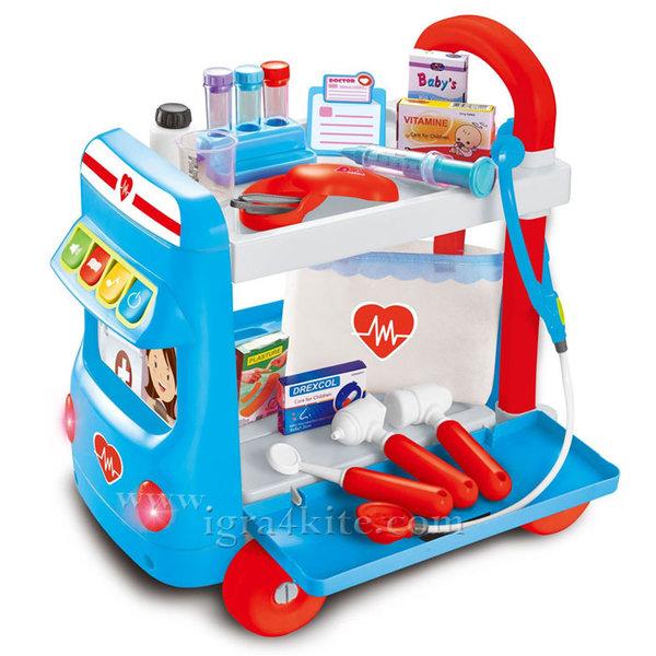 Детски пътуващ лекарски кабинет със звук и светлина 30621