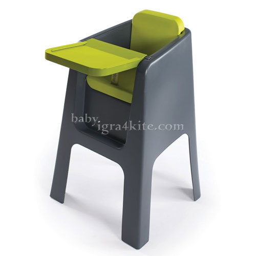 Hoppop - Стол за хранене Trono Grey/Lime