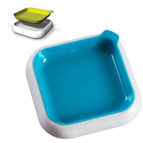 Hoppop - Чиния за хранене 3-в-1 Dobblo Aqua