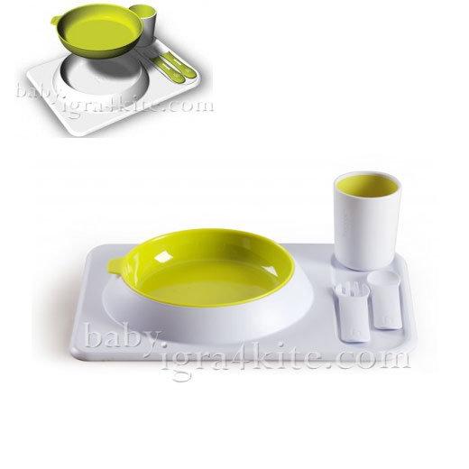 Hoppop - Първи комплект за хранене Atablo Lime