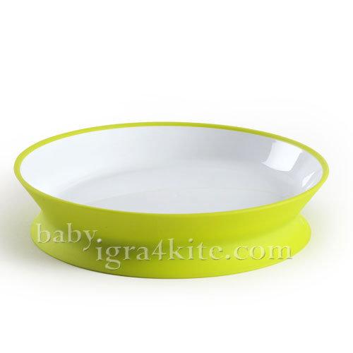 Hoppop - Чиния за хранене с две лица Diabolo Lime