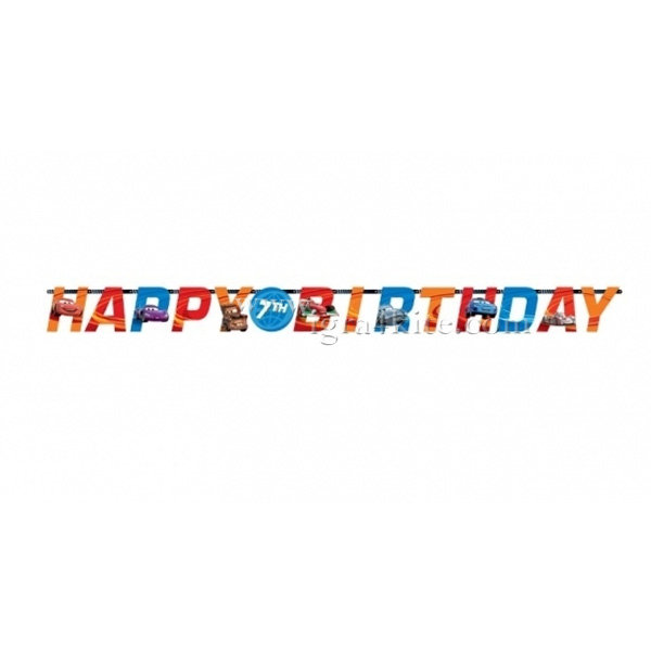 Procos - Cars RSN Гирлянд Happy Birthday 996112