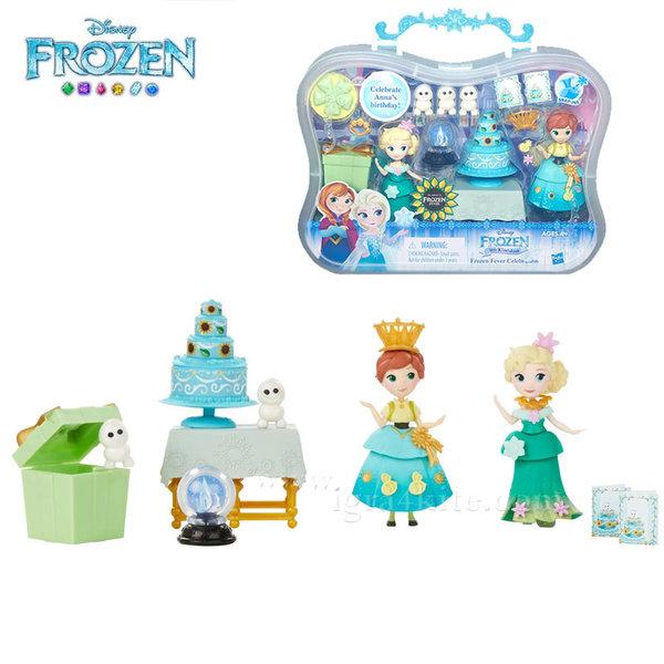 Disney Frozen - Приказен комплект за игра с 2 мини кукли Рожден ден b5191