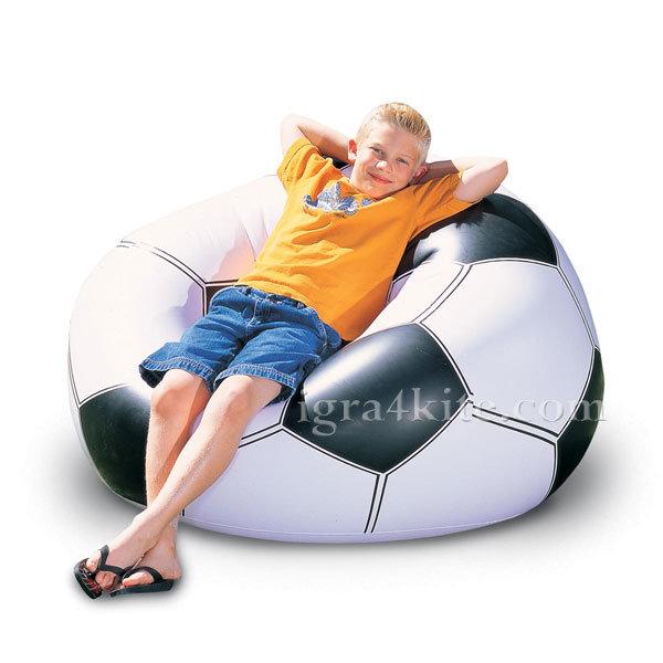 Bestway - Детско надуваемо кресло футболна топка 75010