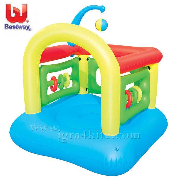 Bestway - Детска надуваема къща батут синя 52122