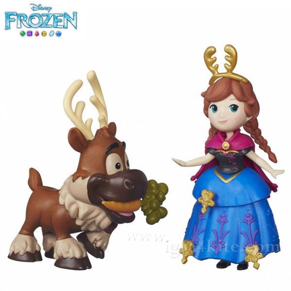 Disney Frozen - Комплект кукла Анна и Свен от Замръзналото кралство b5185