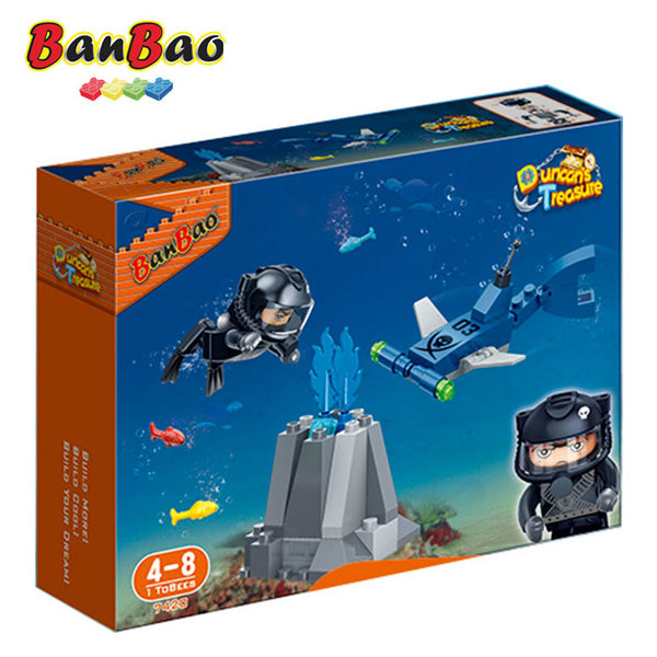 1BanBao - Строител 4+ Съкровището на Дънкан Водолаз 7420