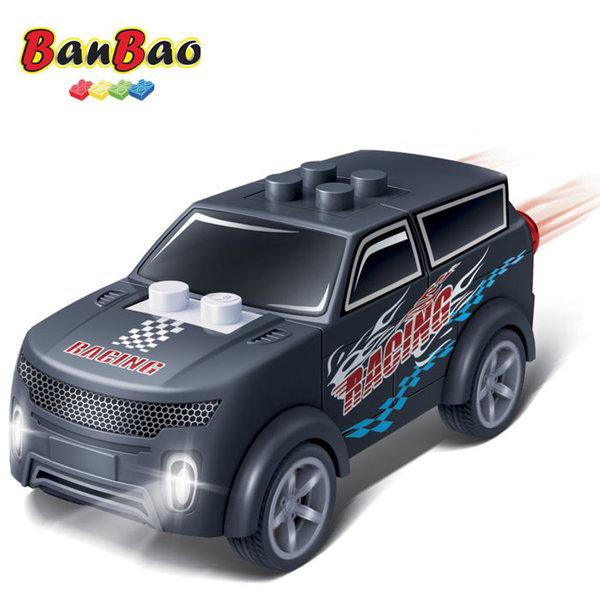 1BanBao - Строител 4+ Мини количка Pull&Back черна 8627