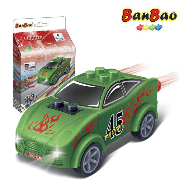 1BanBao - Строител 4+ Мини количка Pull&Back зелена 8628