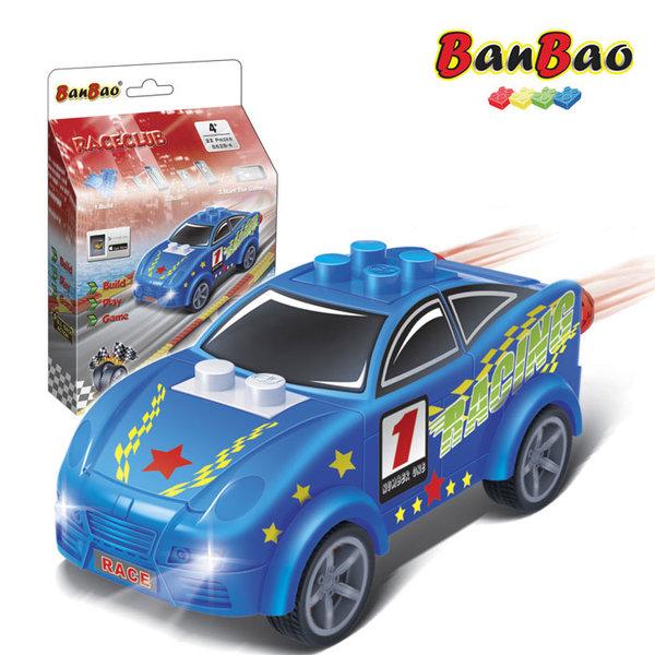 1BanBao - Строител 4+ Мини количка Pull&Back синя 8628