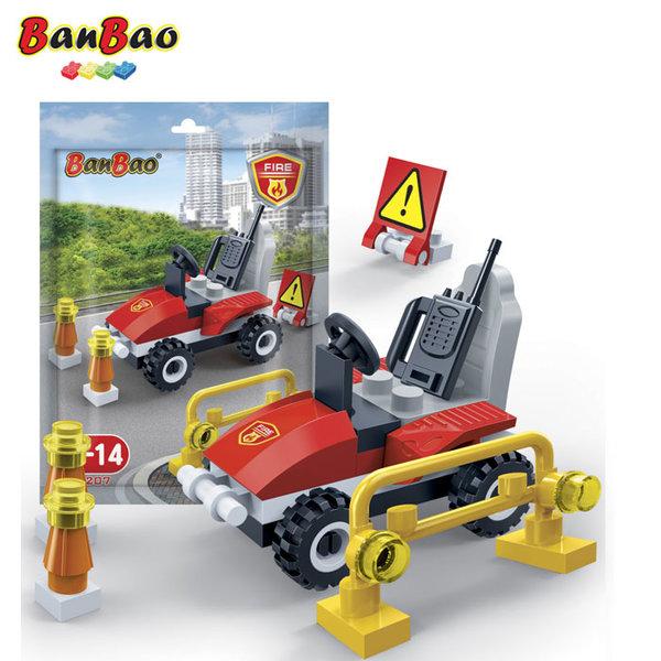 1BanBao - Строител 3+ Мини Пожарникарско бъги 7207