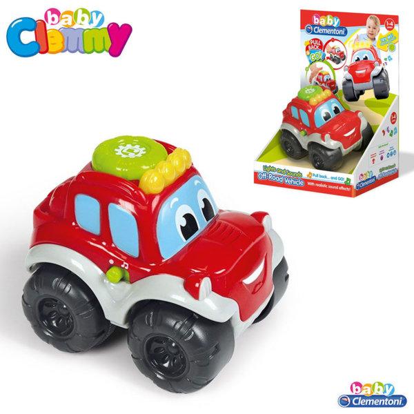 Clementoni Clemmy - Бебешка количка със звук и светлина Pull Back&Go 17178