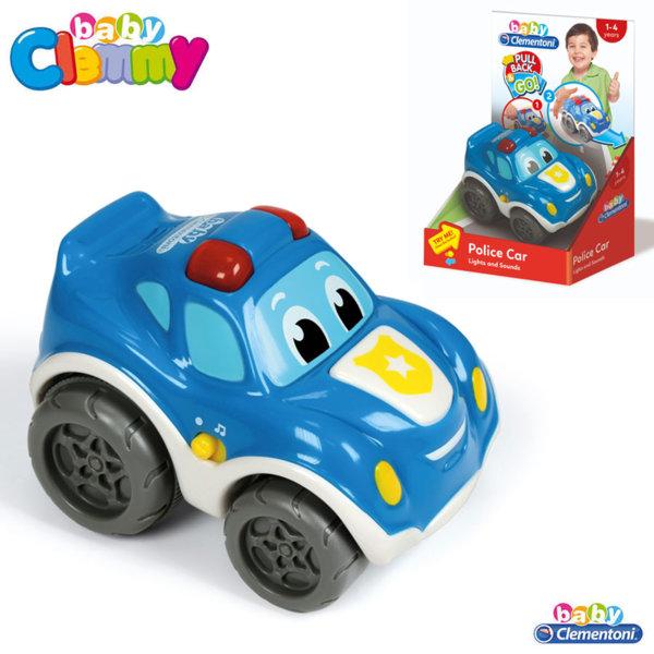 Clementoni Clemmy - Бебешка количка със звук и светлина Полиция Pull Back&Go 17179