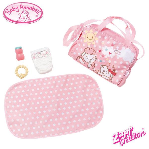 Baby Annabell - Чанта с подложка за повиване и аксесоари за кукла Бейби Анабел 700730