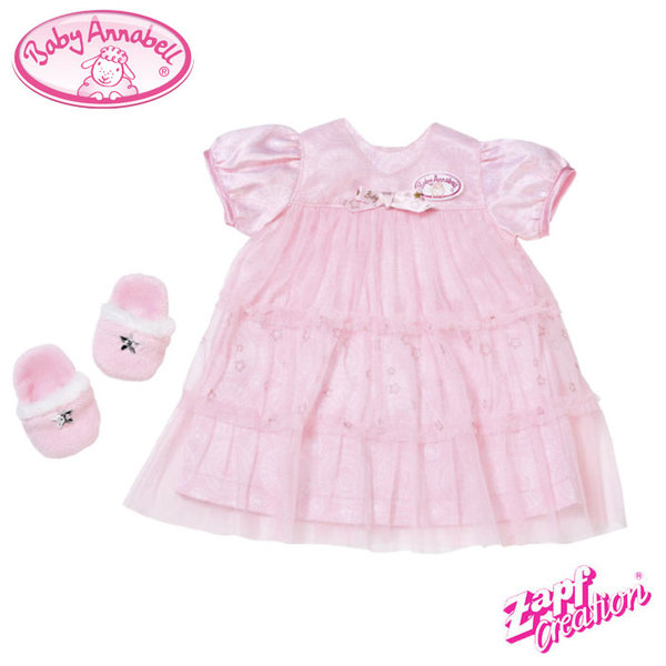 Baby Annabell - Рокля и пантофки Deluxe за кукла Бейби Анабел 700112