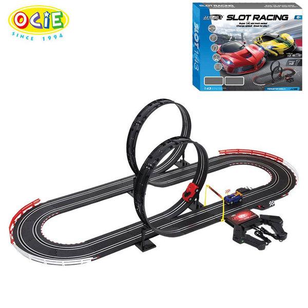 1Ocie - Състезателна писта с 2 колички 555см Slot Racing JJ.98-1