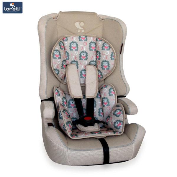 Lorelli - Стол за кола EXPLORER BEIGE HEDGEHOGS (9-36kg) 10070891860