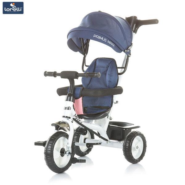 Chipolino - Триколка със сенник и родителски контрол Примус Макс индиго TRKPRX185BI