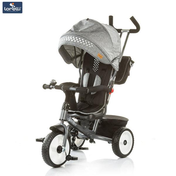 Chipolino - Детска триколка със сенник и родителски контрол Спортико пепел TRKSR0181AS