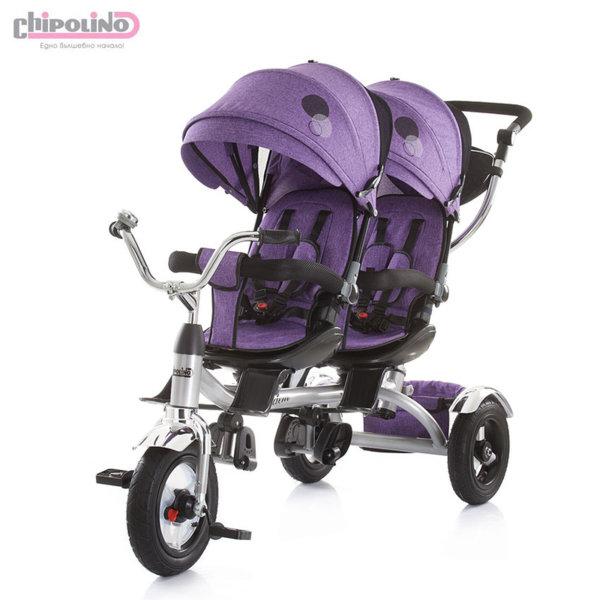 Chipolino - Триколка за близнаци Тандем лилава TRKTA0184PU