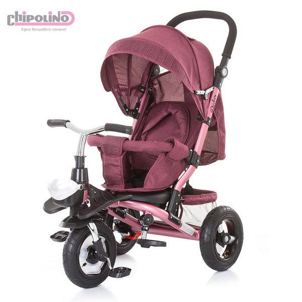 Chipolino - Триколка със сенник и родителски контрол Полар розова TRKPO0184PI