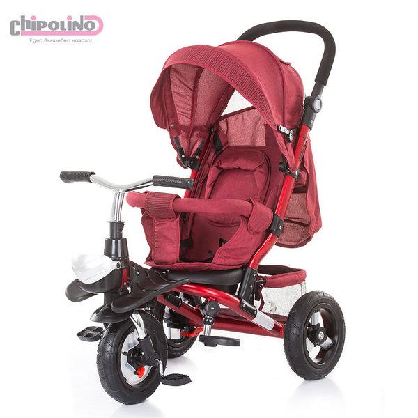 Chipolino - Триколка със сенник и родителски контрол Полар червена TRKPO0183RE