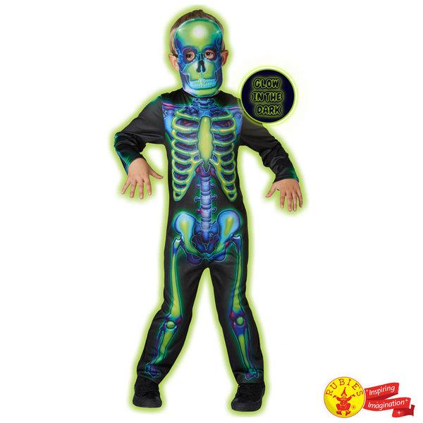 1Детски карнавален костюм Светещ в тъмното скелет 630707