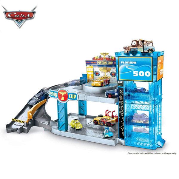 Disney Cars - Двуетажен гараж с количка Дисни Колите Florida 500 FWL70