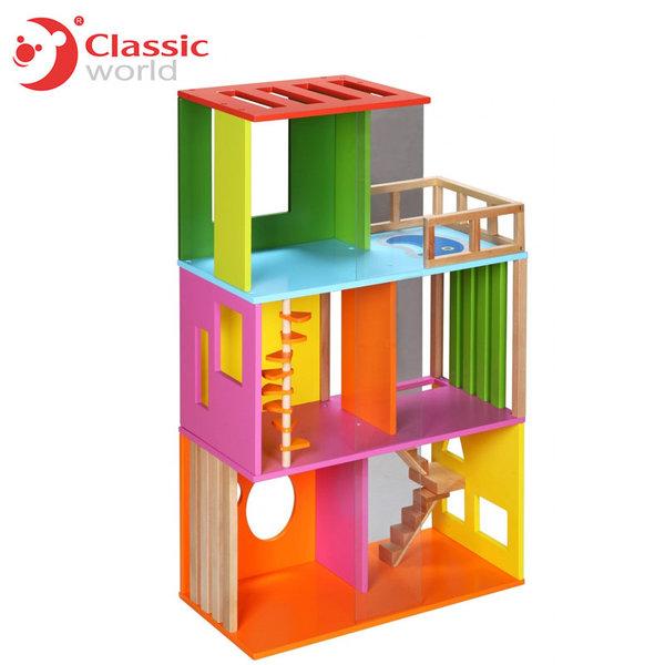Classic World - Детска дървена куклена къща 4124